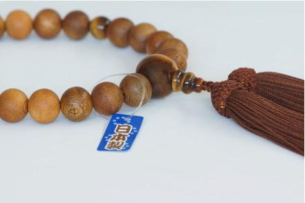 山田念珠堂の国産数珠のタグ