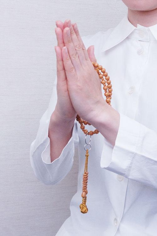 山田念珠堂 天竺菩提珠 9寸六万繰 共仕立(銀環)